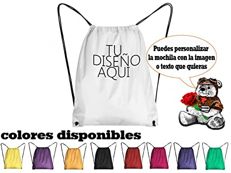 Bolsa Saco personalizada mochila sublimación o vinilo ...