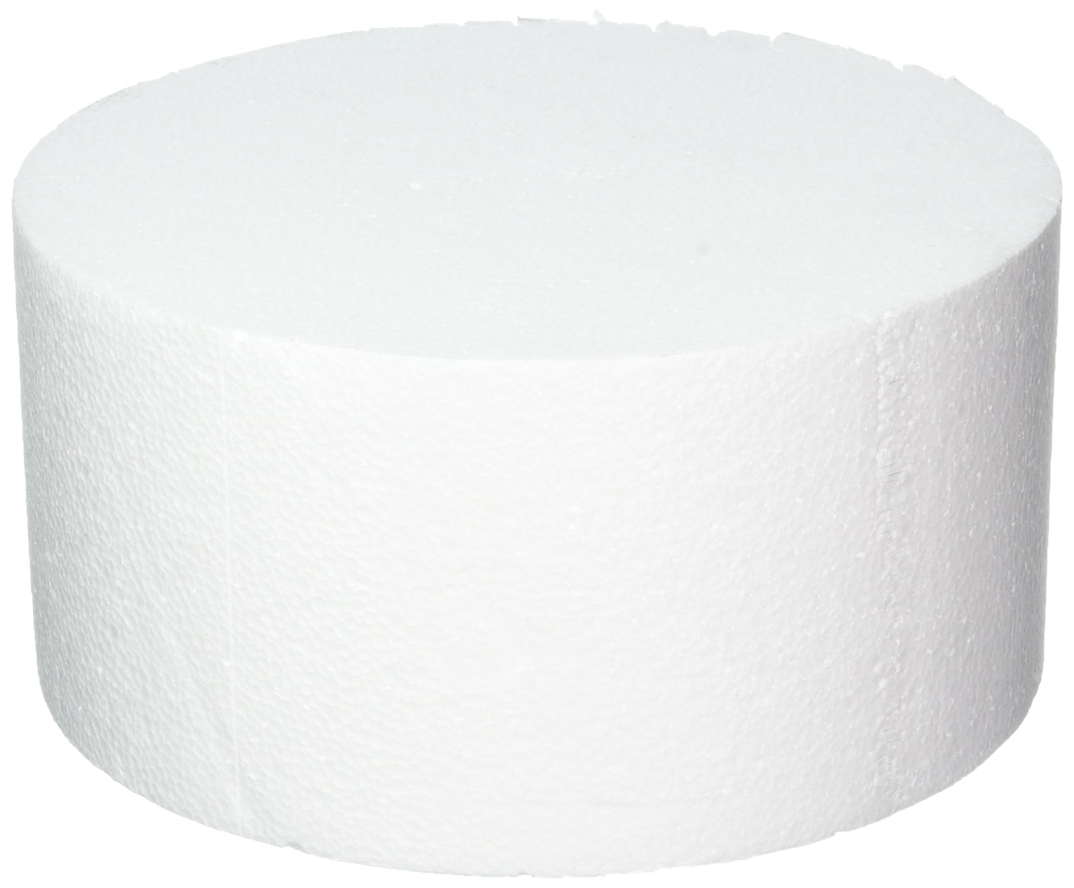 Oasis Supply 747090 Dummy Round Cake, 10'' x 5'', White