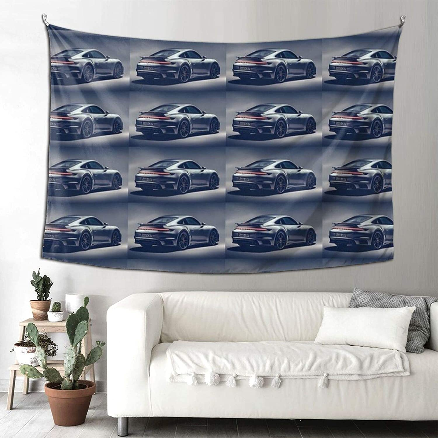 Jmire Porsche Tapestry Wall Hanging Tapestries for Living Room Bedroom Dorm Room Decor Blanket 90x60 inch