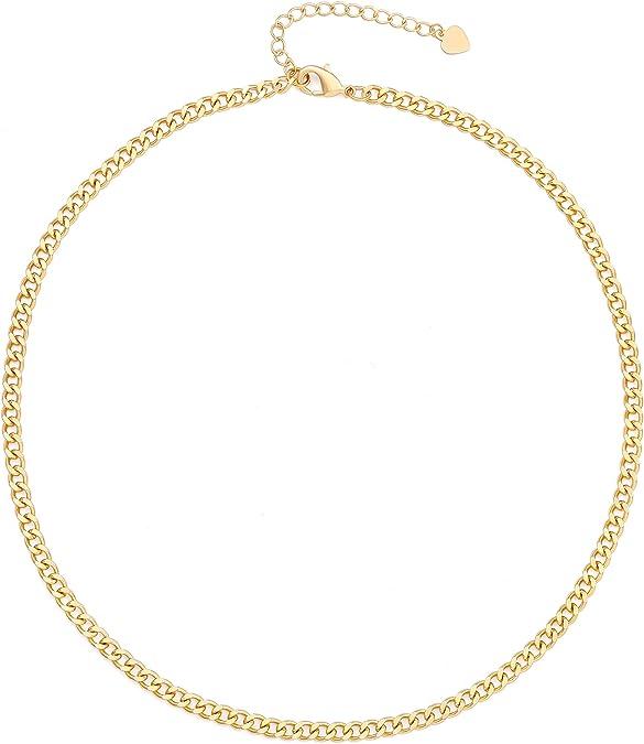 18k gold bead choker layering necklace satellite chain necklace simple gold necklace gold chain choker Gold choker choker necklace