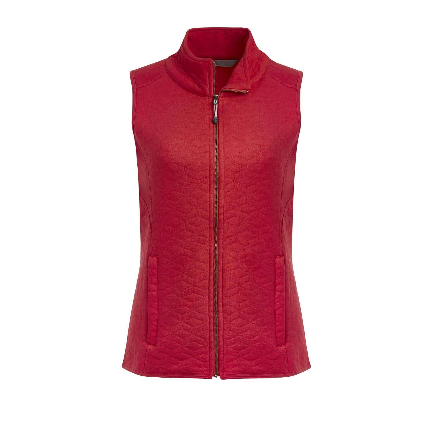 Tasc Performance Red Hot Womens Top Quilt Vest Red Size Small