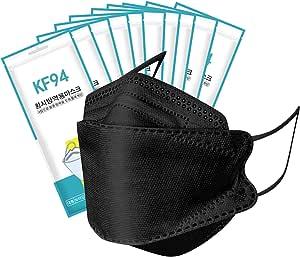 VERTLOVE [50 PCS] Black KF94 Face_Masks 4-Layers Filter Protection,BEF>94% KF94 Masks Black