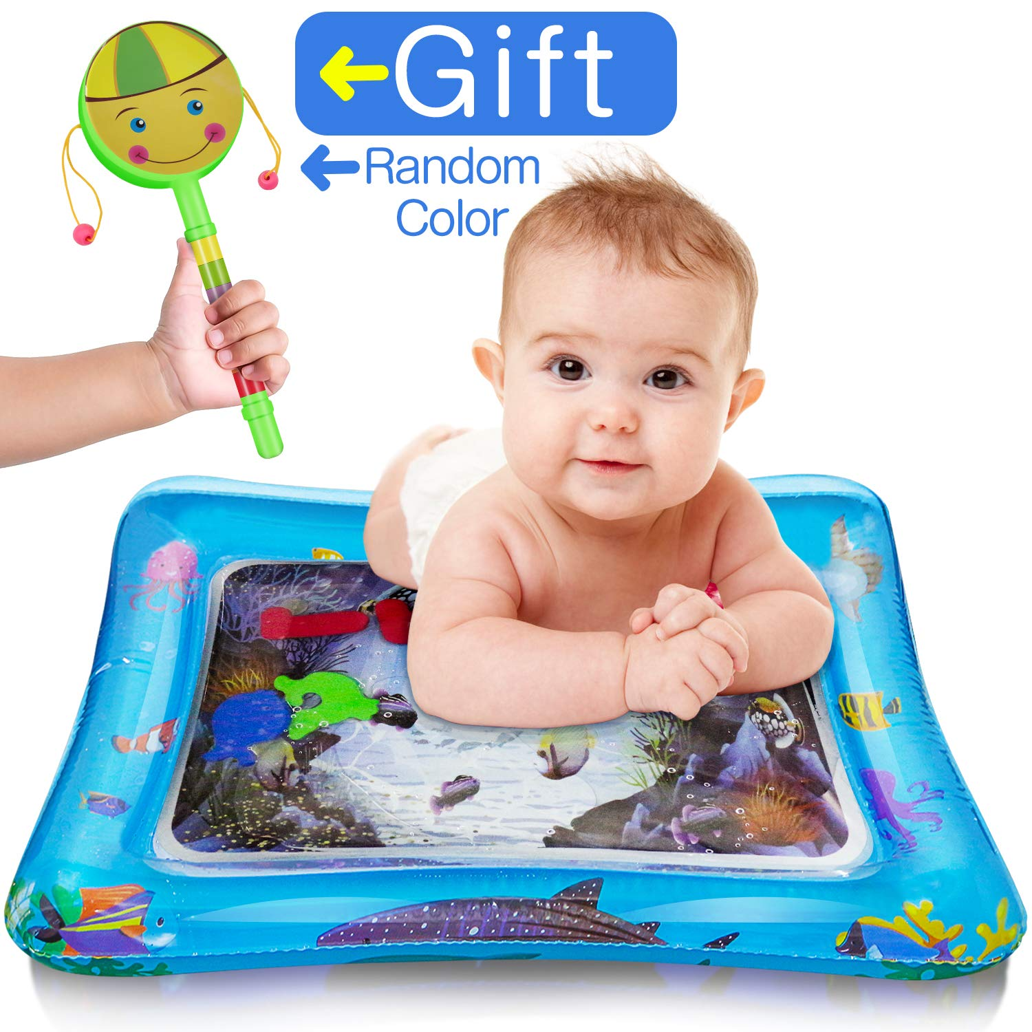 Houselog Inflatable Baby Water Play Mat and Tummy Time Mat