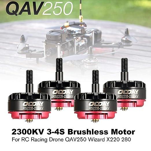 LasVogos OCDAY RS2205 2205 2300KV 3-4S CW CCW Motor sin escobillas ...