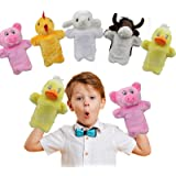 UrSIM Plush Farm Animals Hand-Puppets for Kids Toddlers - Set of 5 Stuffed Animals Puppets for Parents Teachers Interactive T
