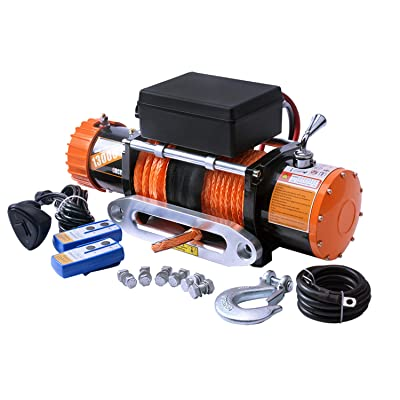 ORCISH 12V IP67 Waterproof Synthetic Rope Winch Electric Jeep Truck winches 13000lb: Automotive