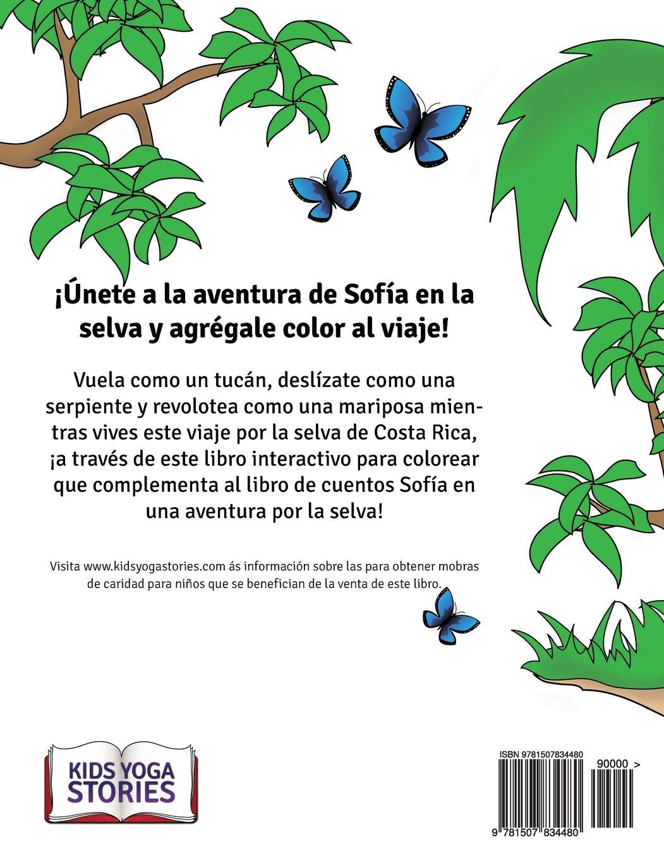 Sofia en una aventura por la selva. Libro para colorear. (Spanish ...
