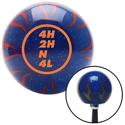 American Shifter 243957 Blue Flame Metal Flake Shift Knob with M16 x 1.5 Insert Orange Dana Transfer Case