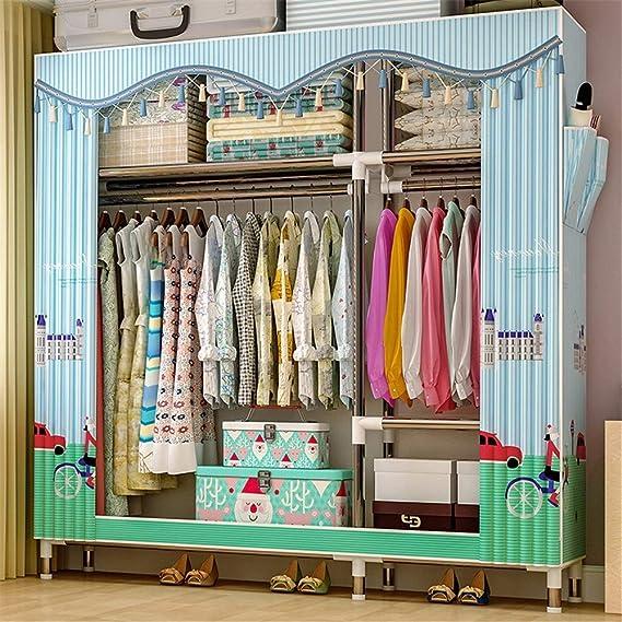 Amazon Com Guocao Laundry Closet Portable Bedroom Furniture Clothes Closet Non Woven Fabric Wardrobe Folding Cloth Storage Organizer Home Kitchen