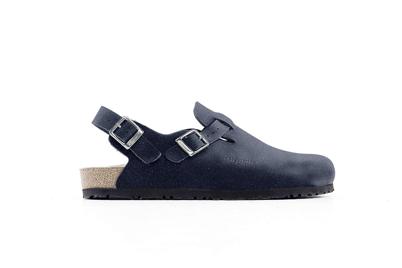 Zueco Cómodo Dippner, Calzado Profesional Gogenbach, Color Azul, Tallas 35 a 47 EU, Zapato Natural para Hostelería y Sanidad para trabajar muchas horas de pie