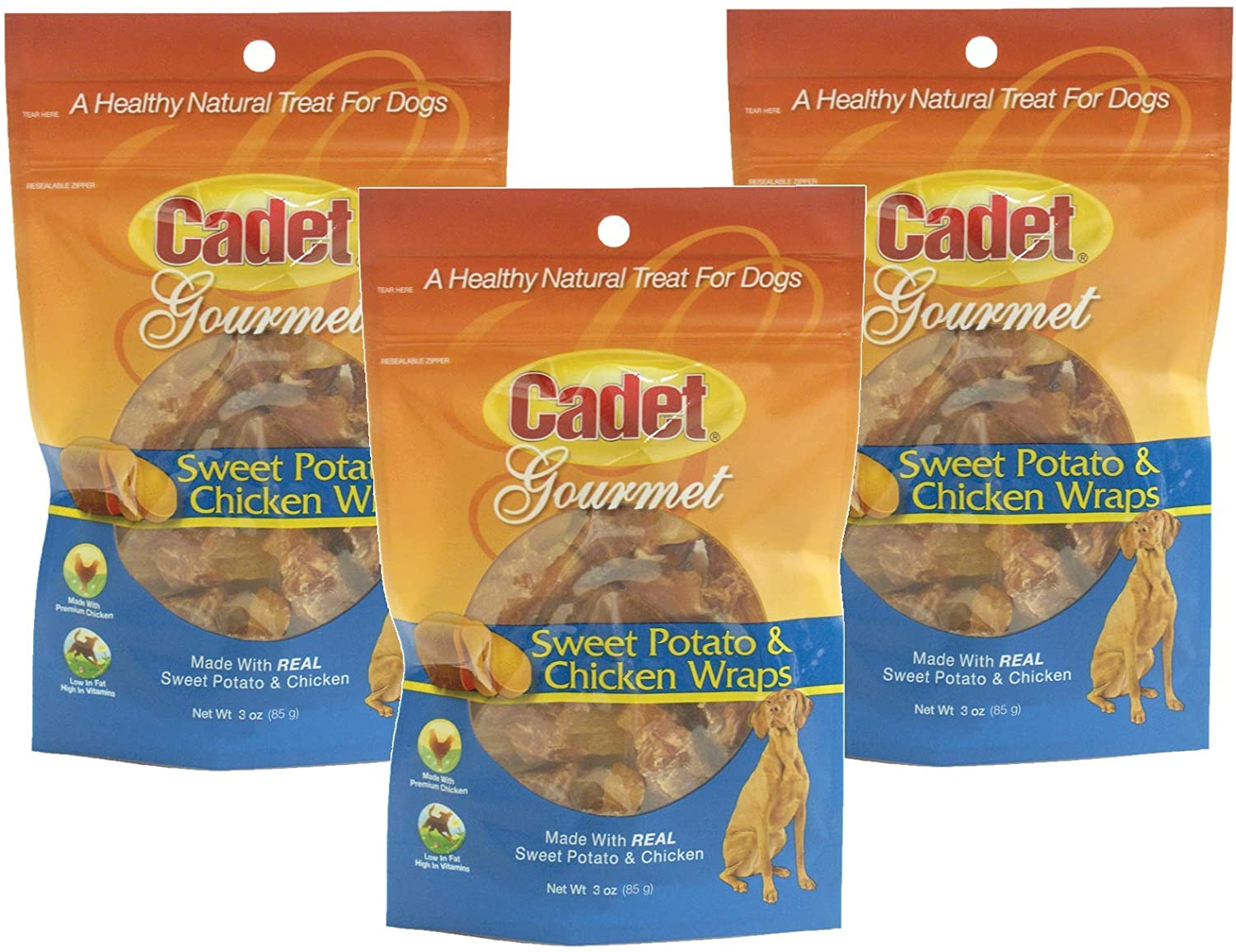Cadet Gourmet Sweet Potato and chicken wraps Pack of 3