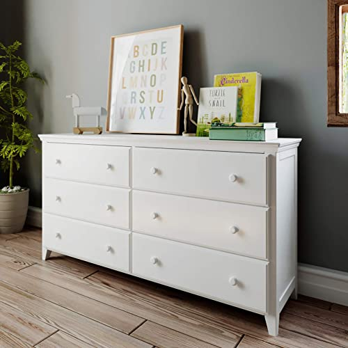 Max Lily Solid Wood 6-Drawer Dresser