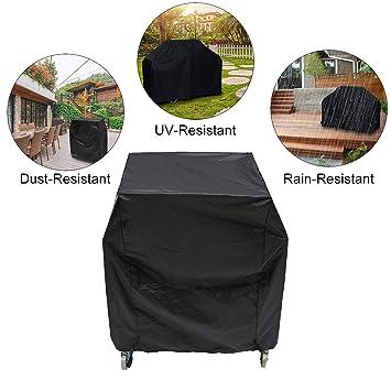 Essort - Funda impermeable para barbacoa, tela protectora para parrilla grill, color negro,