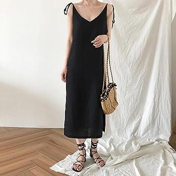 GZZ Vestido de Verano Coreano de Mujer, Vestido con Tirantes ...