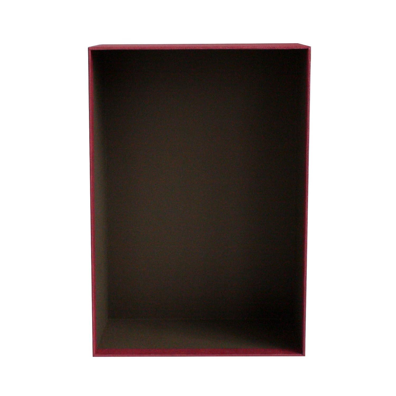 Scatola Crema Con Coperchio Blu 33.5 cm * 25 cm * 11.5 cm Emartbuy Lusso Rigido Confezione Regalo a Forma di Rettangolo Interni Color Cioccolato e Nastro Decorativo Arco a Strisce