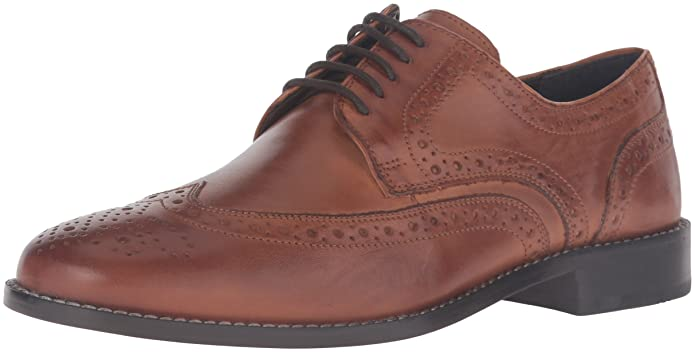 Mens Vintage Style Shoes| Retro Classic Shoes Nunn Bush Mens Nelson Wingtip Oxford $90.00 AT vintagedancer.com