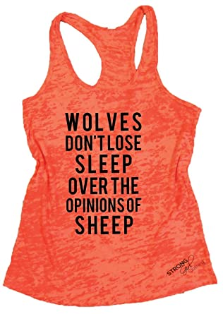 71b60e0b4 Wolves dont lose sleep over the opinions of sheep tank top small orange jpg  316x445 Sheep