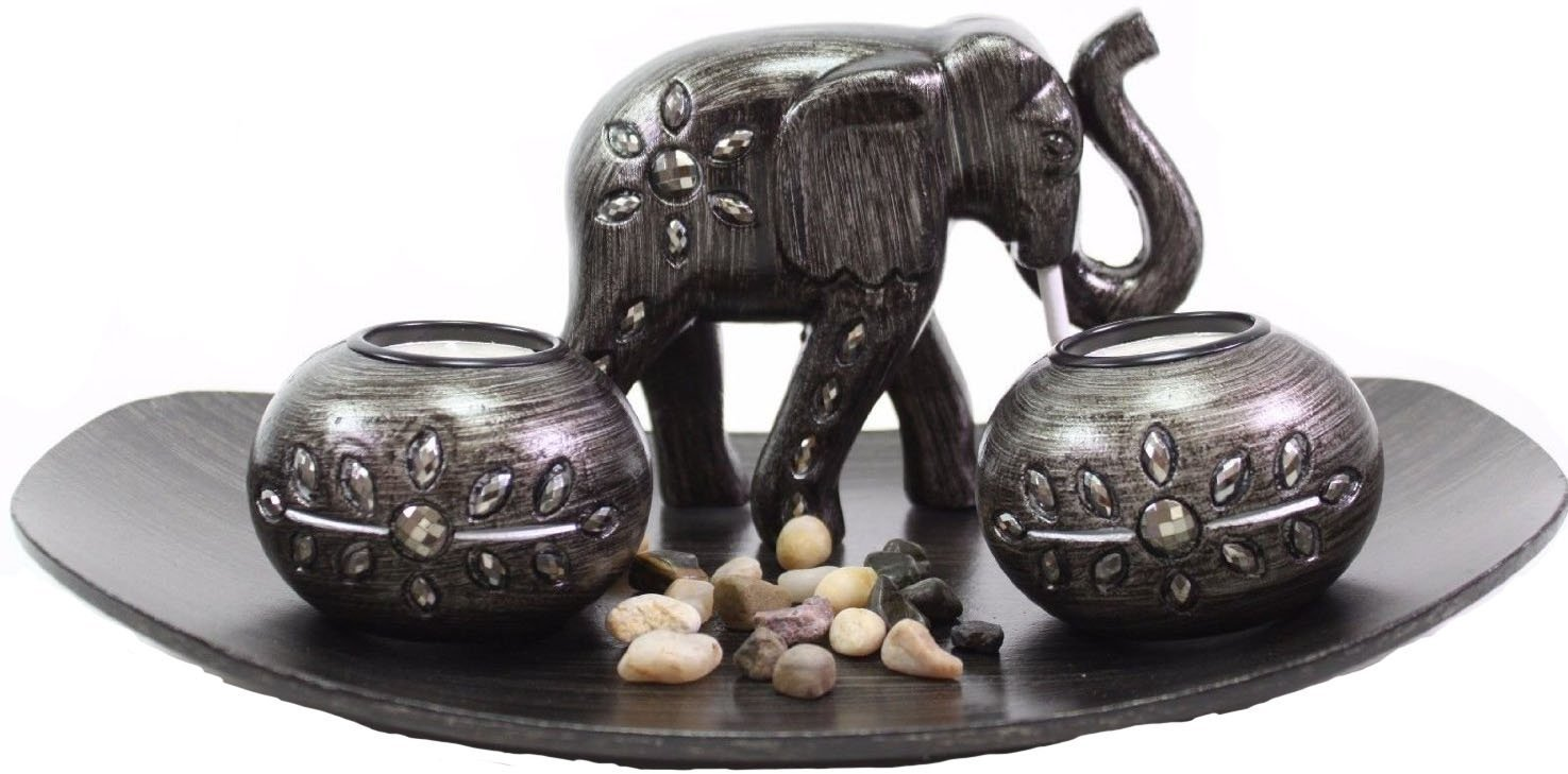 Tabletop Incense Burner Gifts & Decor Zen Thai Elephant w/ Light Candle ~ USA SELLER!! (Thai Elephant G16290) by 6goodeals