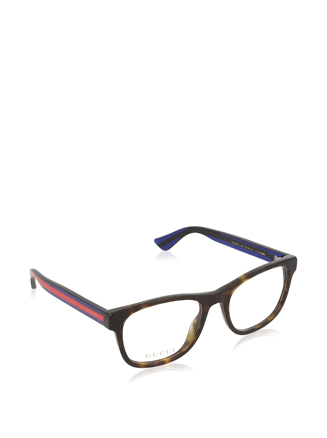 7053531374 Gucci GG 0004O 003 Havana Plastic Square Eyeglasses 53mm  Amazon.in   Clothing   Accessories