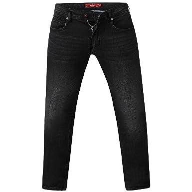 New Mens King Big Rockford Stretch Denim Jeans Black Stone Wash Waist Size 42 60