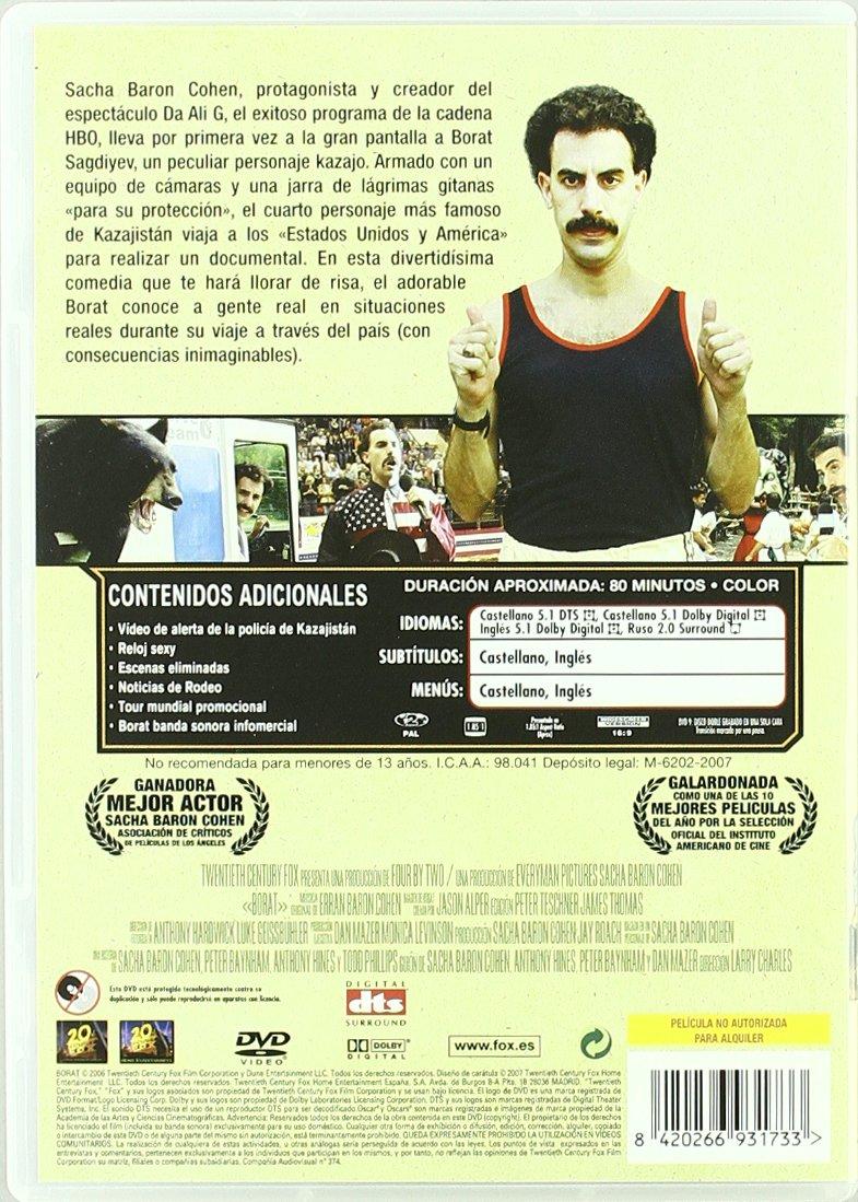 Amazon.com: Borat (Import Movie) (European Format - Zone 2) (2007) Sacha Baron Cohen; Larry Charles: Movies & TV