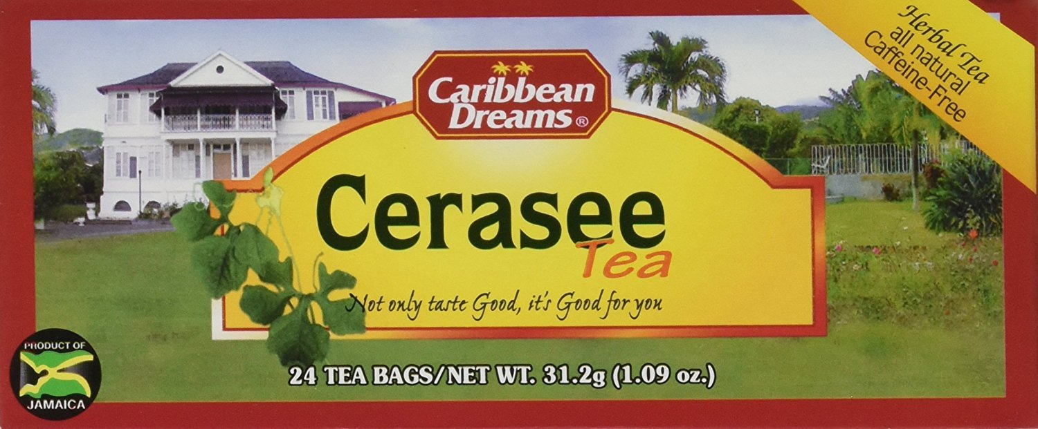 Caribbean Dreams Cerasee Tea, 24 Tea Bags, Herbal Tea, All Natural,  Caffeine Free Tea, 100%