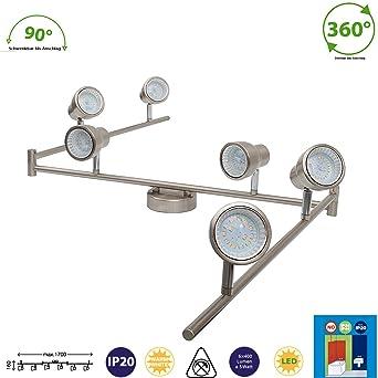 LED Deckenlampe, Deckenleuchte,Wohnzimmerlampe, Gelenkbogen 6 ...