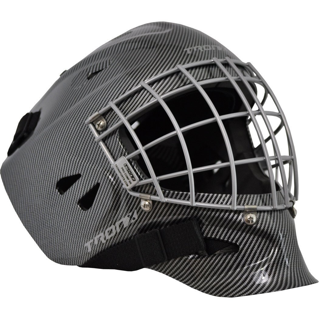 Tron-X Pro Comp Hockey Goalie Mask (Black - Large)