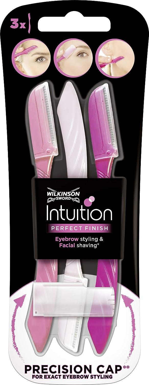 Wilkinson Sword Beauty Eyebrow Shaper - Kit de 3 Depiladoras de Cejas y Vello Facial de Mujer, Herramienta de Belleza Femenina