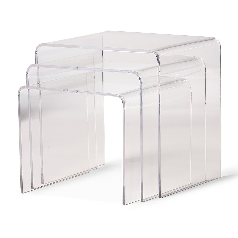 Amazon: Baxton Studio Acrylic Nesting Tables, Clear: Kitchen & Dining