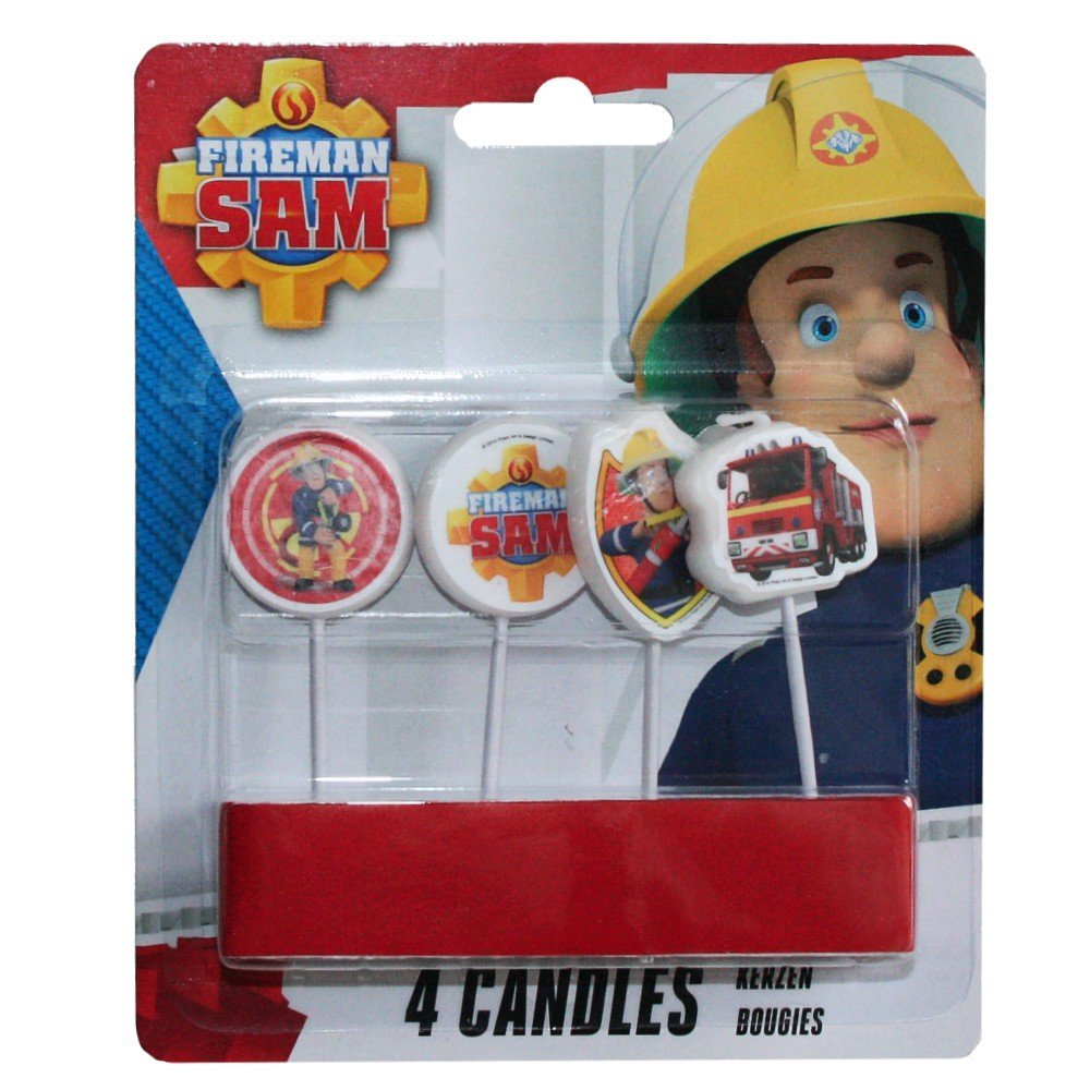 Procos S.A. Firefighter Sam Party Set Cake Candles Cake Decoration (4 Pieces)