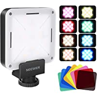 Neewer 12 SMD LED Bulb Mini Pocket-Size On-Camera LED Video Light with Built-in Battery/USB Charge/Hot Shoe Adapter and…