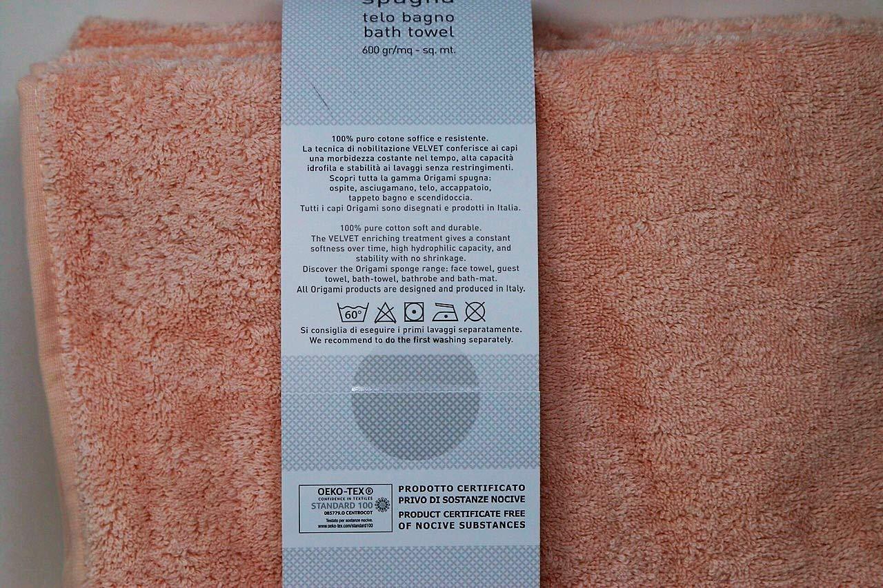 9e6356c6e1 Telo Bagno in Pura spugna idrofila 600 gr. mq Somma art. Origami con bordo  jacquard (giada 347): Amazon.it: Casa e cucina