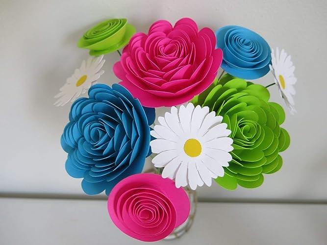 dd1f5244e225 Amazon.com  Bright Paper Flower Bouquet