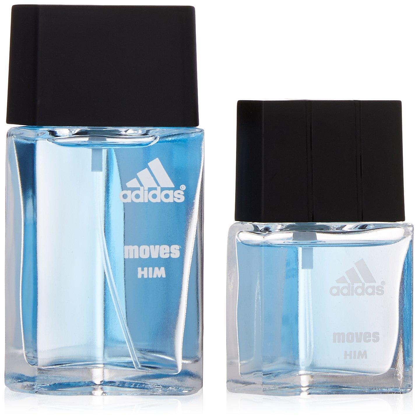 Adidas Moves By Adidas For Men. Gift Set ( Eau De Toilette Spray 1.0 Oz + Eau De Toilette Spray 0.5 Oz ) by adidas