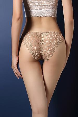 Snknh - Pinzas, bragas, Sra. sexy ropa interior encaje sexy transparente encaje bragas