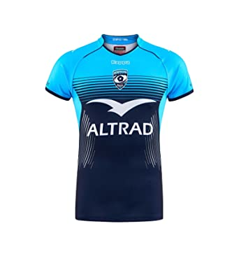 5107c9952 Kappa Montpellier 2017 18 Home S S Replica Rugby Shirt - Blue - Size ...