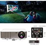 EUG Full Hd 1080p 3900 Lumens LCD LED Image System Home Theater Cinema Projector Red&blue 3d Ready Iphone Ipad Cell Phone Pc Blu-ray Xbox Ps3 Mac Tv for Education Gaming with USB Hdmi VGA Av Port