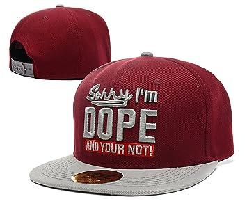 snapback DOPE sombreros / gorras (rojo vino con el logotipo gris ...
