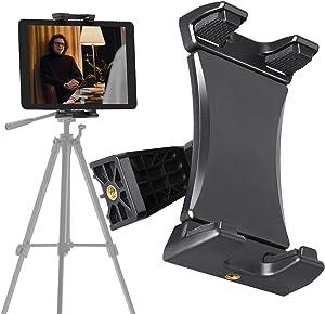 Jubor Tablet Tripod Mount Adapter, Tablet Tripod Holder Fits Phone, iPad, iPad Air, iPad Mini, iPad Pro 4.7-12.9