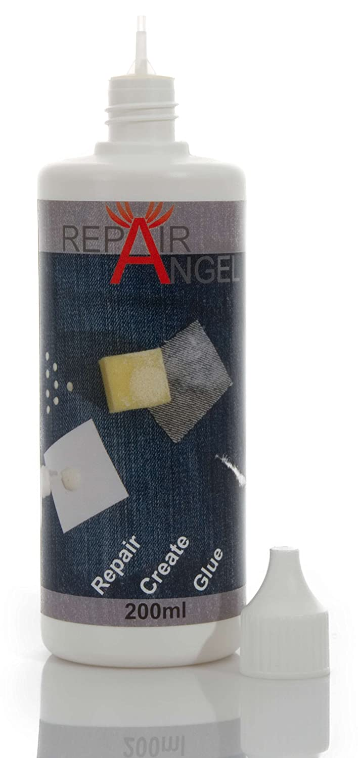 Repair Angel Colle Textile Lavable en Machine Transparent pour Tissus en Cuir Jean Marise Waterproof Antidé rapant Kit de ré paration de Colle 200 ML TF Handelsagentur