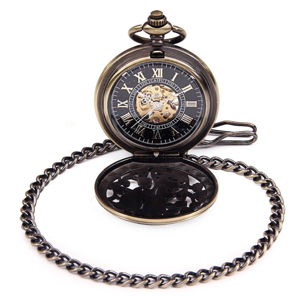 Amazon.com: Lover Double Birds Carved Steampunk Pocket Watch Fashion Skeleton Watches Hand Wind Mechanical Pocket Watch Reloj de bolsillo: Watches