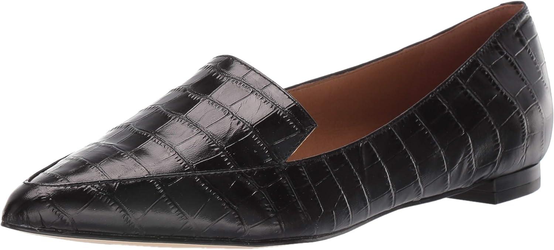 NINE WEST womens Fashion Loafer Flat, Black, 5/11 US