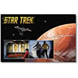 """Star Trek 50th Anniversary – Lenticular Souvenir Sheet (Animated Stamps) - Captain Kirk, Spock and Doctor Leonard """"Bones"""" McCoy - Collectible Postage Stamps Canada"""