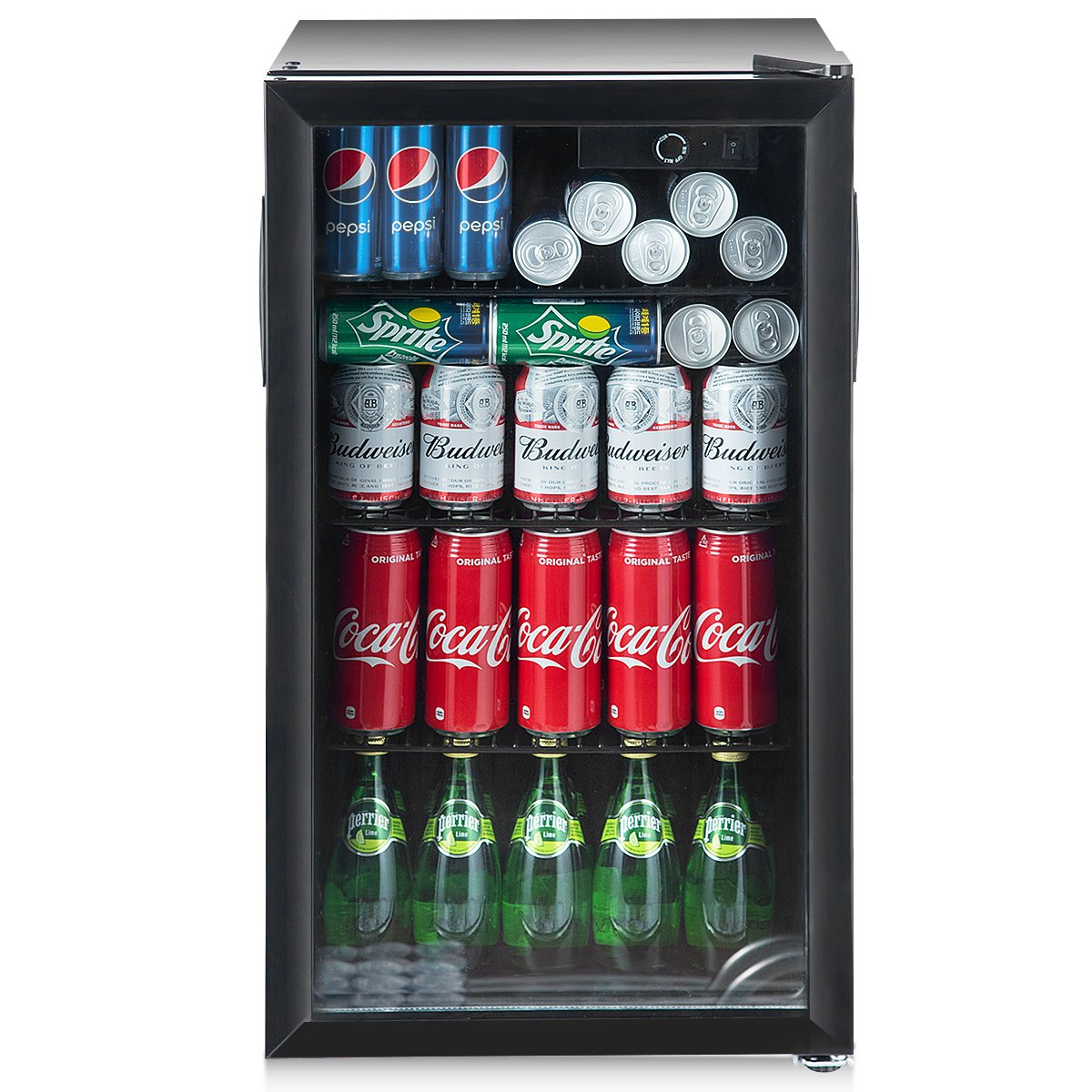 Costway 120 Can Beverage Refrigerator And Cooler Mini Fridge With
