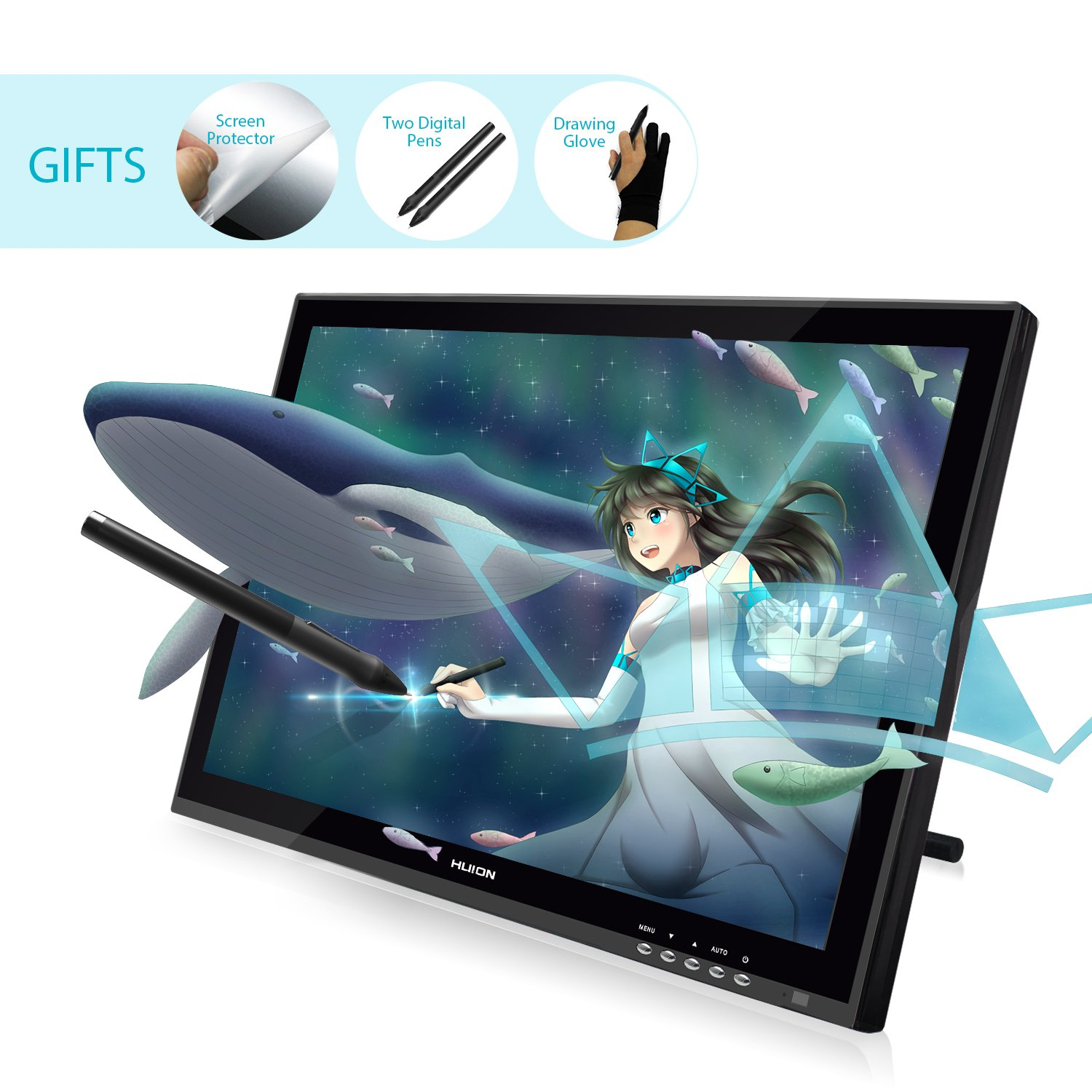 Galleon - HUION GT-190 Pen Display Graphics Drawing Tablet