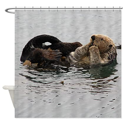 CafePress California Sea Otter Shower Curtain Decorative Fabric 69quot