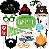 Big Dot of Happiness Happy Camper - Photo Booth Props Kit - 20 Count