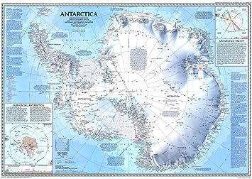 Amazon.com: The Antarctica Map World Map Poster Wall Art ...