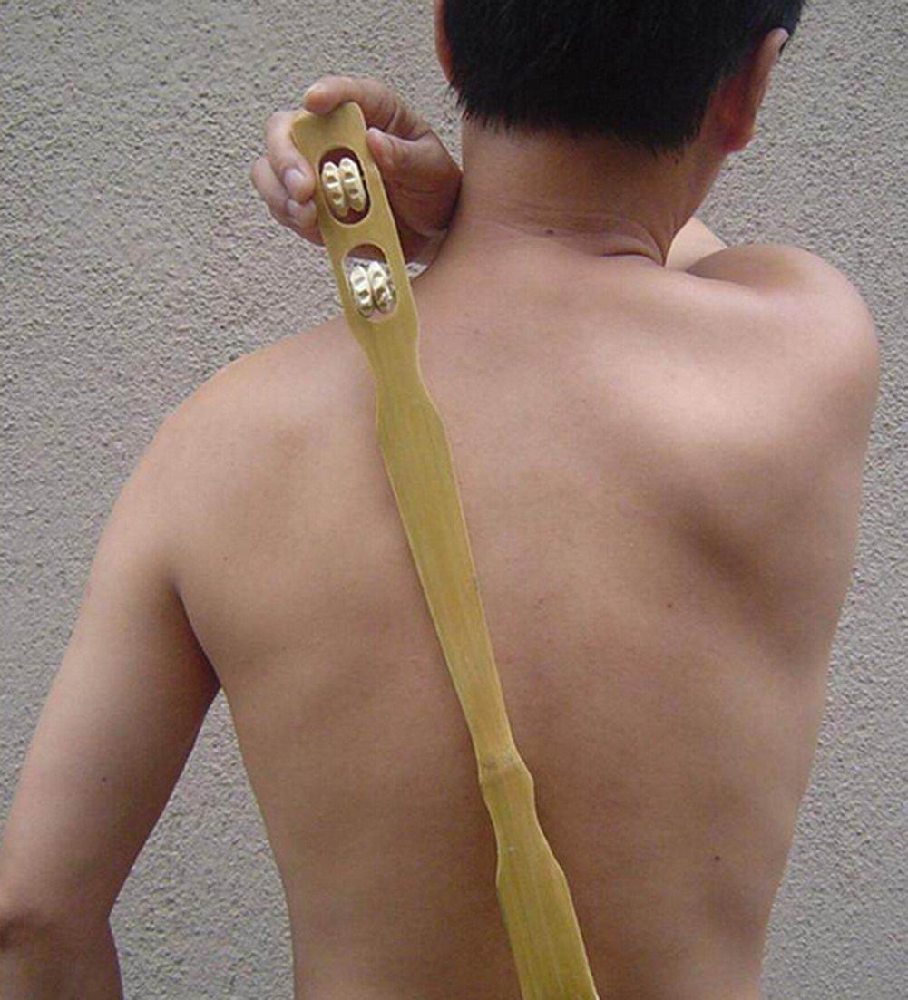Leisial 47CM Back Scratcher Bambus zur/ück Kratzer R/ückenkratzer Holz Wooden
